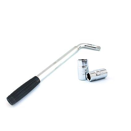 UKCOCO Llave de tubo telescópica universal, llave de tuercas para trabajo pesado con llave de