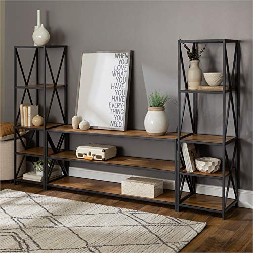 Walker Edison Furniture Company 3-Piece Entertainment Center - Barnwood by Walker Edison Furniture Company