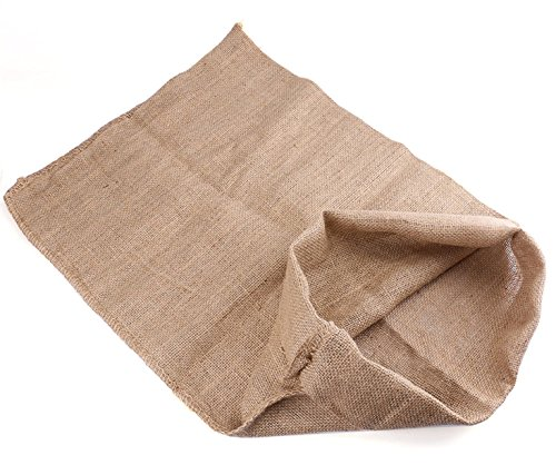 Bekith Heavy-duty Burlap Potato Sacks Race Bags 24x39, Set of 6]()