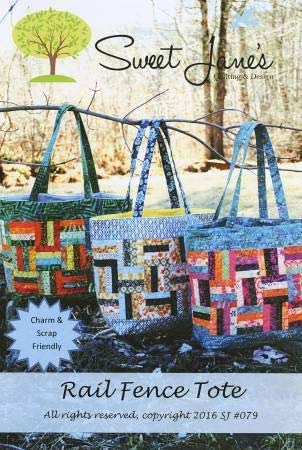 Rail Fence Tote Pattern by Sweet Jane Quilting SJ 079 (Patterns Bag Quilted)