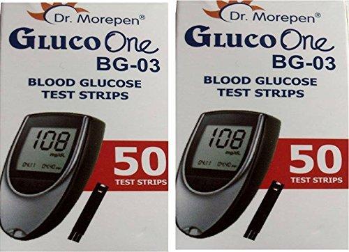 Dr. Morepen BG-03 Test Strips – 100 Strips (Multicolor)