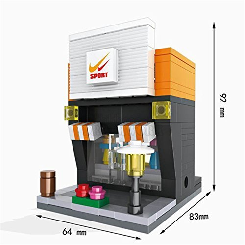 Sports Mini Street Retail Store 3D Building Blocks Kids Figure Toy