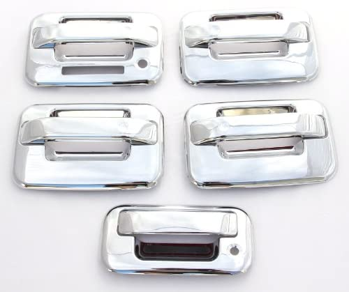 02-09 Chevy Trailblazer Chrome Mirror+4 Door Handle W//O PSG Keyhole Cover COMBO