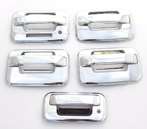 Ford F150 Chrome Accessories - EZ MOTORING Chrome Door Handle & Tailgate Covers with keypad & w/o psg keyhole for 2004-2014 Ford F-150 F150 (4 Doors)