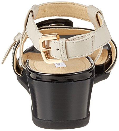 Geox D Marykarmen D, Sandali con Cinturino alla Caviglia Donna Beige (Cream/Black)