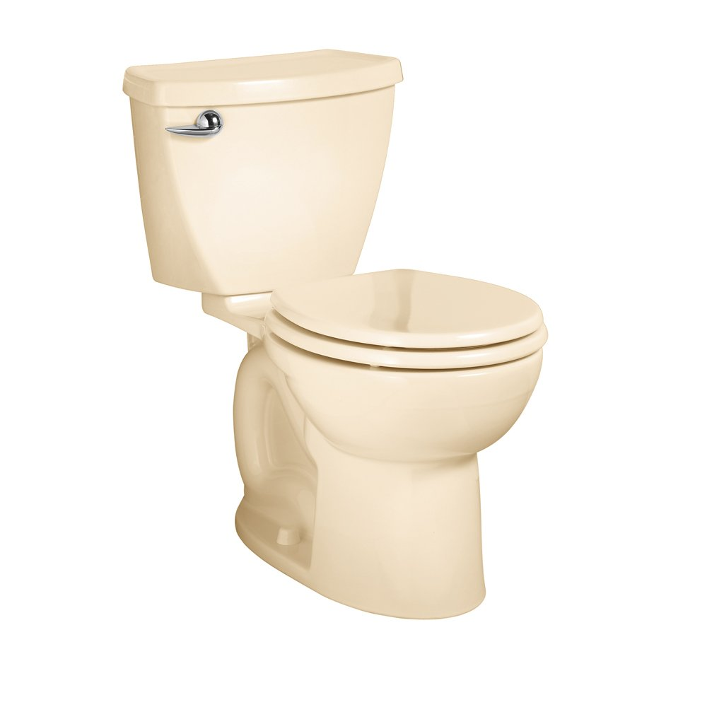 American Standard 270DA001.021 Cadet 3 Round Front Two-Piece Toilet with 12-Inch Rough-In, Bone