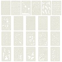 Aspire 21PCS Plastic Drawing Painting Stencil Templates for Kids Crafts, Washable Templates Set-Assorted 21PCS