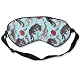 Sleep Mask Classic Tattoo Eye Cover Blackout Eye Masks,Soothing Puffy Eyes,Dark Circles,Stress,Breathable Blindfold For Women Men