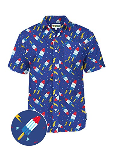 Mens USA Patriotic Hawaiian Shirt - Patriotic Aloha Shirts for Guys