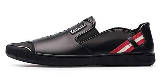 Men's Comfort Rubber Sole Slip-On Leather Moccasins Loafers Casual Driving Walking Shoes