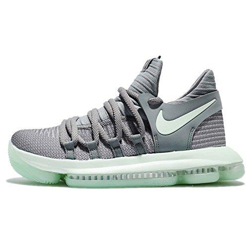NIKE Zoom KD10 (GS) Big Kid's Basketball Shoes Cool Grey/Igloo-White 918365-002 (6Y M US) ()