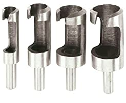 Warrior 4 Piece Plug Cutter Set Drill Ki...