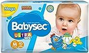 Fralda Babysec Ultrasec Galinha Pintadinha, Azul, M,40 unidades