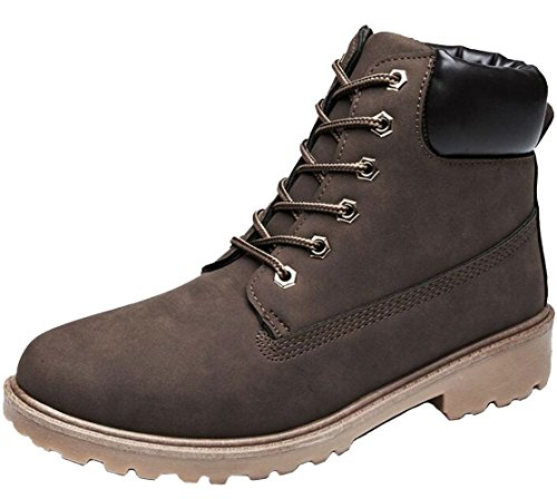 DADAWEN Unisex Adults' Outdoor Hiking Trekking Military Combat Boots Brown (Women) BN90hqOOYE