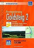 Hikeline Fernwanderweg Goldsteig 2 S▒dvariante, 383 km, 1:35.000: S▒dvariante: Genusswandern, Burgen, Schl▒sser und sagenhafte Fernblicke, wetterfest