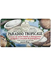 Nesti Dante Paradiso Tropicale Triple Milled Natural Soap, St. Barth's Coconut and Frangipani, 8.8 Ounce