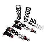 X Spede XPTD100FW02 Black and Red 100mm Aluminum Adjustable Piggyback Shocks (2)