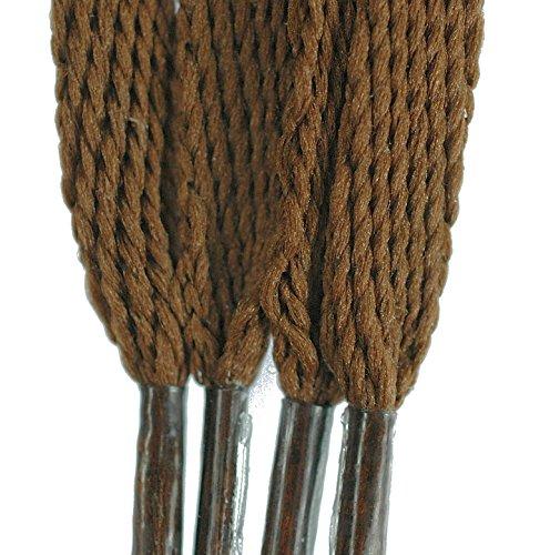 Tz Flat 3/16 5mm Lacci Per Scarpe / Stivali / Scarpe Da Ginnastica / Plimsols Marrone
