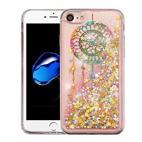 Wydan Compatible Case for iPhone 8, iPhone 7, iPhone 6s/6 - Slim Hybrid Liquid Bling Glitter Sparkle Quicksand Waterfall Shockproof TPU Phone Cover - Dreamcatcher for Apple
