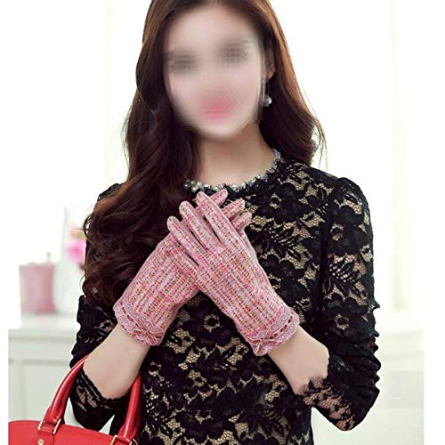 In Guanti Ragazza Coreana Plus Autunnali Hx Fashion Pink Invernali Pizzo Versione Chic E Donna fqWzwg5