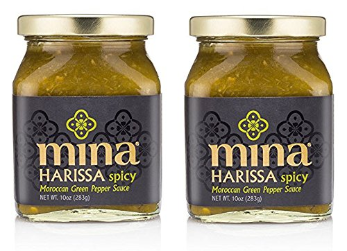 Mina Spicy Green Harissa Moroccan Pepper Sauce, 10-Ounce (Pack of 2) ()