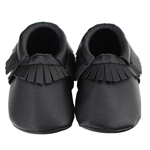 Ecosin Tassel Anti slip Leather Toddler