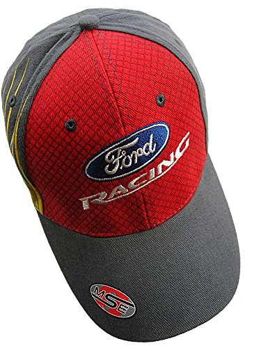 BP Ford WRC Ford Racing OMSE Red Flex Fit Rally Cross Hat Grey Peak Cap