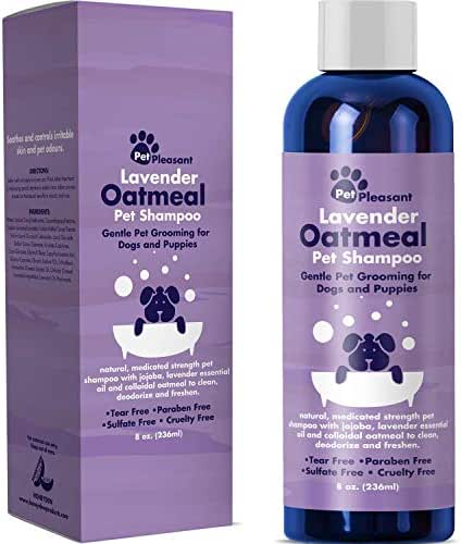 HONEYDEW Colloidal Oatmeal Dog Shampoo with Pure Lavender Essential Oils - No Tear Shampoo for Dry Itchy Skin Relief - Pet Odor Eliminator - Grooming Shampoo