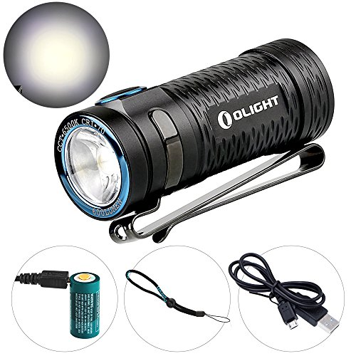 Olight S1 Mini LED Flashlight 600 Lumens Ultra Compact with Cree XM-L2 CW LED and 1 x 650mAh RCR123A Rechargeable Battery Waterproof LED EDC Light (S1 Mini)