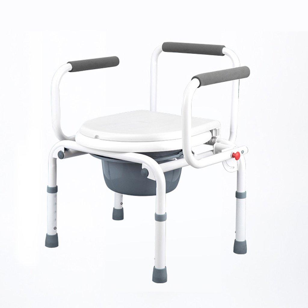 LXN 折りたたみ式トイレ椅子とトイレの椅子のバスルームのアンチスリップ調節可能な高さのバスルームシャワーのスツール高齢者/妊婦/障害者のトイレの椅子 B07DK2WNN6