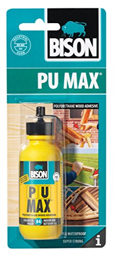 12 x 6305297 Bison PU Max D4 75g Polyurethane Interior Exterior indoor Outdoor Wood Adhesive Glue Super Strong by Bison