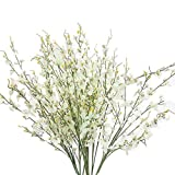 Artificial Flowers, MaxFox Fake Oncidium Bouquet Orchid Phalaenopsis Bouquets Home Office Wedding Party Decor (White)
