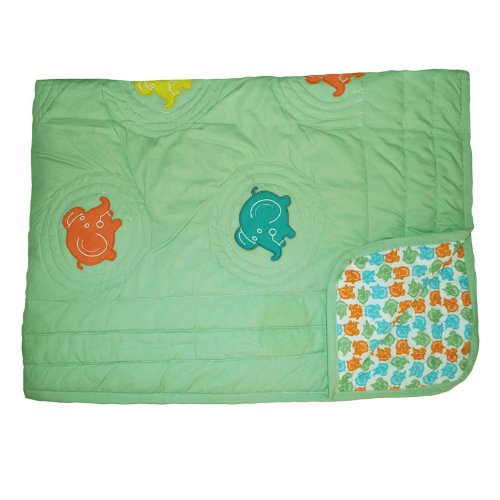 glo Organic Elephant Hand Stitched Quilt-Full/Queen