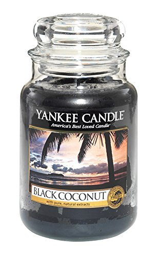 Yankee Candle 22-Ounce Housewarmer Jar Candle, Large, Black Coconut ()