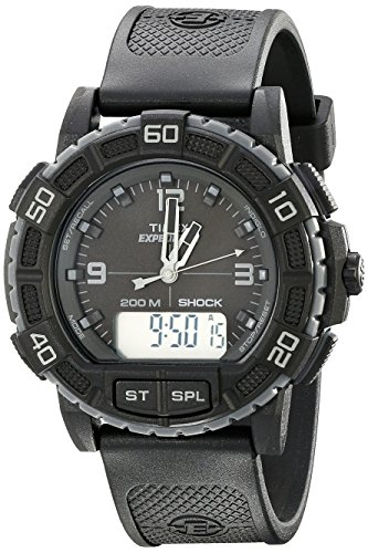 Timex Men's TW4B00800 Expedition Double Shock Black Resin Strap (Combo Shock)