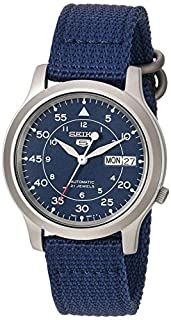Seiko Men's SNK807 Seiko 5 Automatic Blue Canvas Strap Watch (B006CHML4I) | Amazon Products