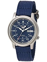 Seiko Men's SNK807 Seiko 5 Automatic Blue Canvas Strap Watch