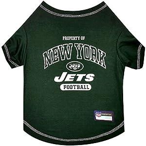 NFL NEW YORK JETS Dog T-Shirt, Medium