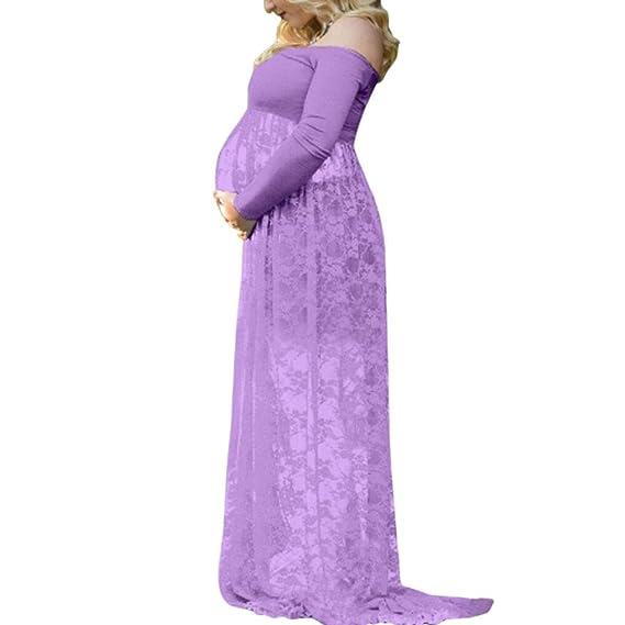 K-youth Vestidos Embarazada Fotografia Vestidos Largos de Fiesta Fotos Embarazada Vestido para Mujeres Embarazadas