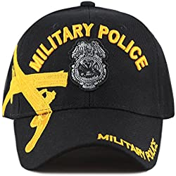 1d765582007 The Hat Depot Official Licensed Military Police Crossed Pistols Embroidered  Cap (Black w  Badge. amazon.com