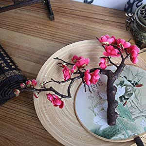 Hot Sale!DEESEE(TM)Artificial Silk Fake Flowers Plum Blossom Floral Wedding Bouquet Party Decor 3
