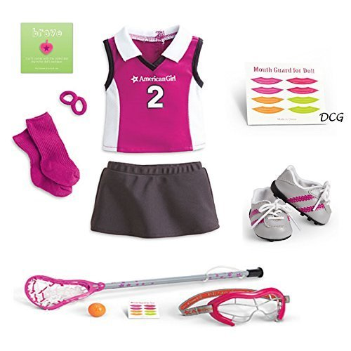 """American Girl MYAG Lacrosse Outfit and Gear for 18"""" Dolls (Doll Not Included)"""
