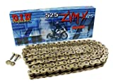 D.I.D 525ZVMXG-104 Gold 104-Link High Performance X-Ring Chain with Connecting Link