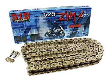 D.I.D 530VX-130 Steel 130-Link High Performance X-Ring Chain with Connecting Link