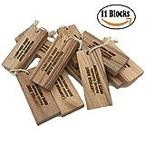 Household Closet Essentials Fresh Cinnamomum Camphora Root Blocks Moth Repellent and Clothes Protector Storage Accessories Value Pack 1-Pack (11 Blocks)