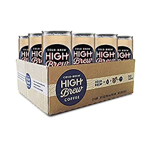 High Brew Cold Brew Coffee Creamy Cappuccino plus Protein 8 Fl oz (12 Count) Grab & Go Pre-Made Cold Brew Coffee Low-Acidity Caffeine Drink