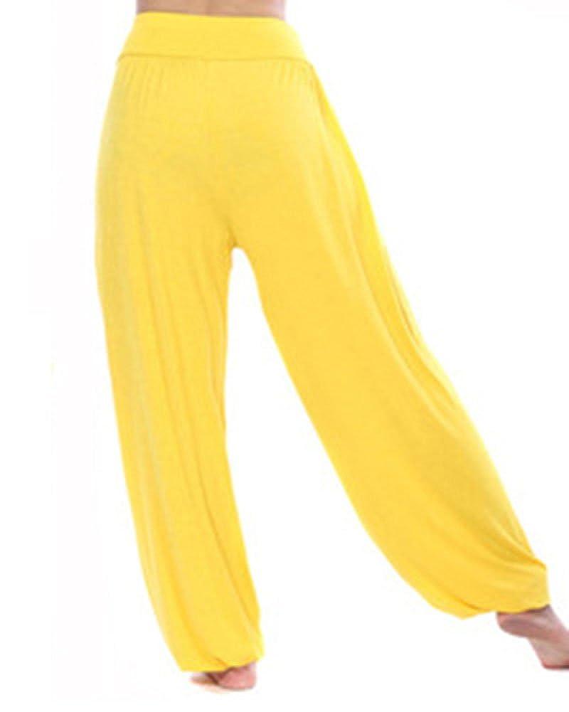 DianShao Pantalones De Yoga De Pretina Elástico Pantalones Bombachos De Fitness para Mujer Unisex