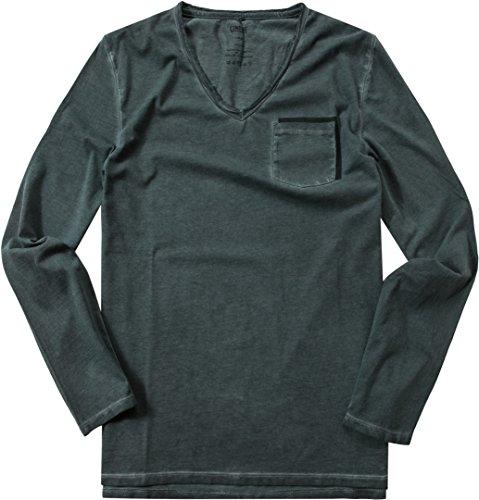 CINQUE Herren Shirt Cirafa Baumwolle Sleeve Unifarben, Größe: S, Farbe: Grün