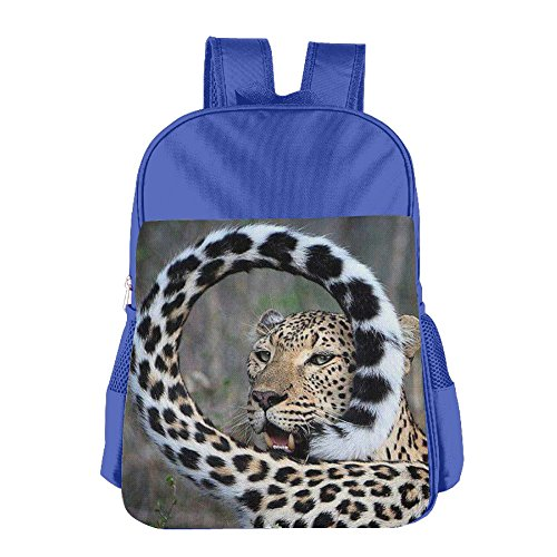 (Curly Tail Leopard School Backpack For Girls Boys Cute Bookbag Outdoor Daypack)