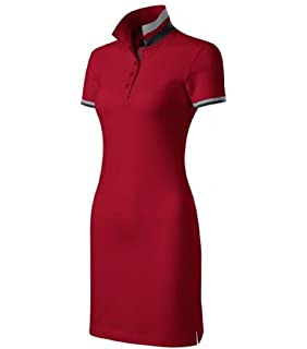 Malfini Kleid Dress up Damen Baumwolle Damenkleid Polokleid mit 2 Knöpfen 3fd422d20f